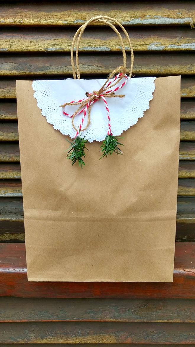 embalagem de presente de natal