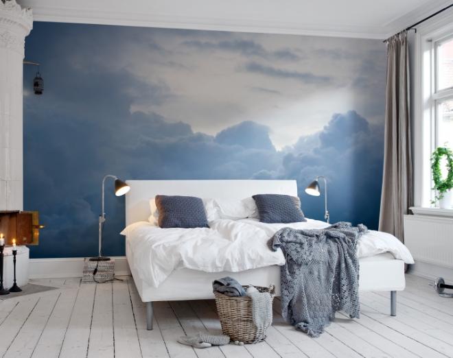 Mural parede céu